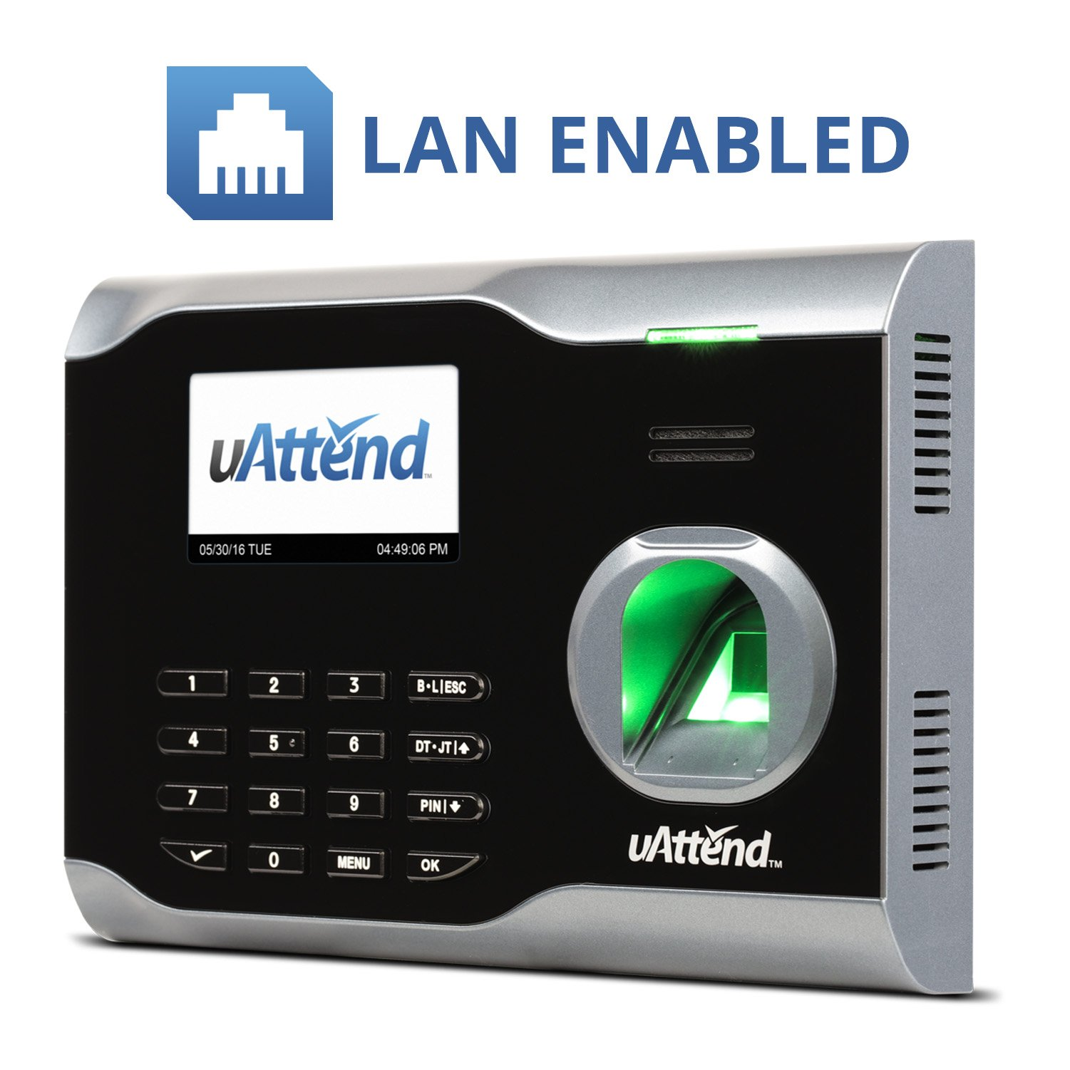 uAttend BN6000 Biometric Fingerprint Clock
