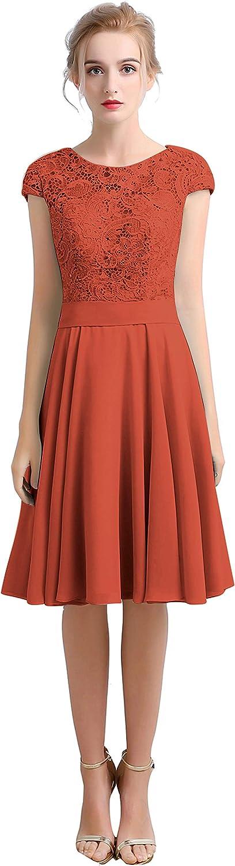 CladiyaDress Women A Line Cap Sleeves Short Evening Dress C102LF