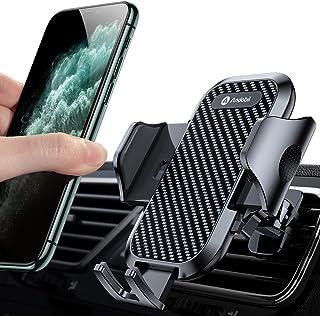 Andobil 車載ホルダー スマホスタンド 車 ワンタッチ着脱式 取り付け超簡単 エアコン口用 車 スマホホルダー 自由調節 4-7インチ全機種対応 iPhone/Samsung/Sony/LG/Huawei など