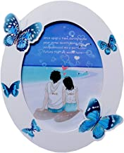 UberLyfe Oval Shaped with Blue Butterflies Photo Frame - 15.2cm x 20.3cm (PF-000638-BUT6BY8)