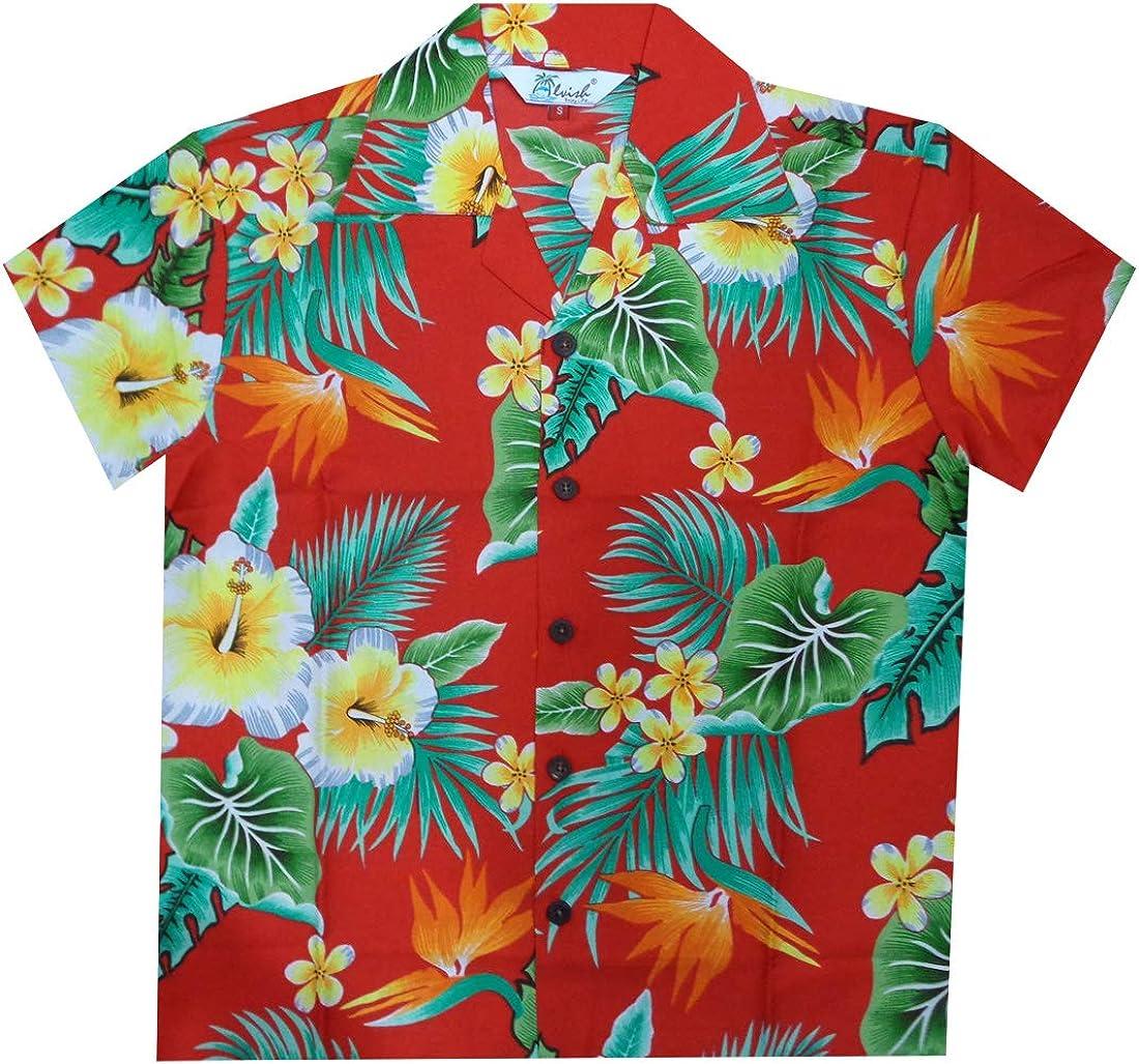 Hawaiian Shirts Free shipping Ranking TOP10 on posting reviews Boys Flower Leaf Holiday Aloha Party Beach Camp