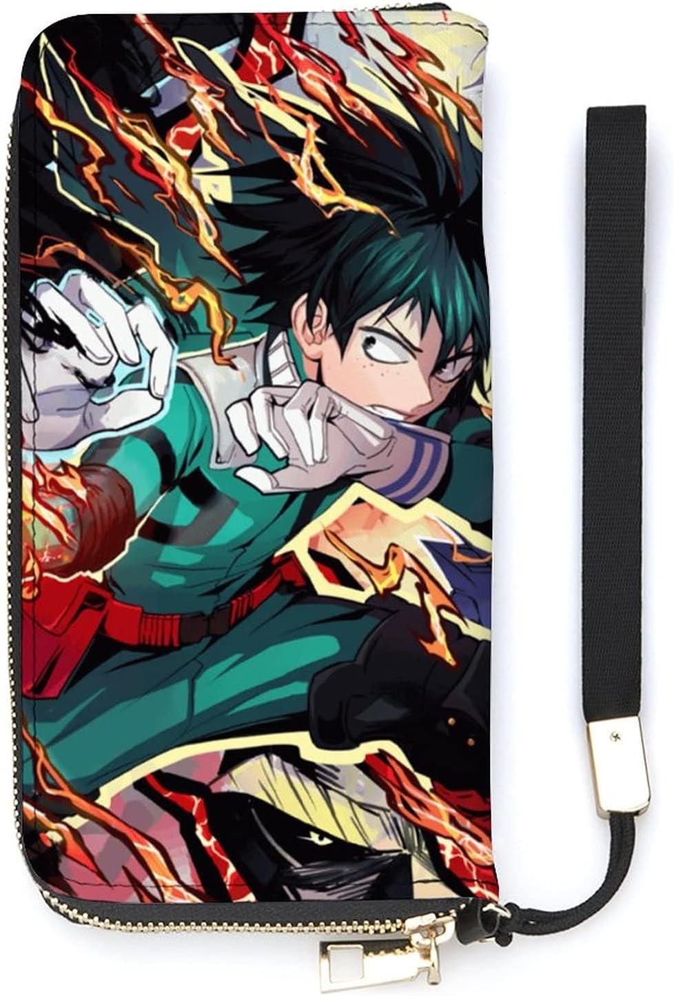 Izuku My Hero Academia Anime Wallet Seasonal Wrap Introduction Soft Max 68% OFF Pri PU Cartoon Leather