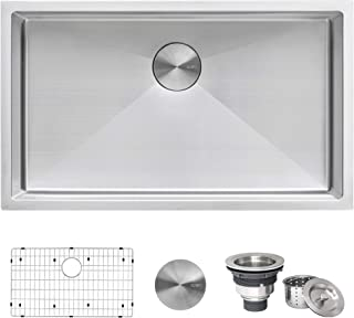Ruvati 32-inch Undermount 16 Gauge Tight Radius Kitchen Sink Stainless Steel Single Bowl – RVH7400