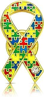 パズルリボン ピンバッジ 平 自閉症 ADHD スペクトラム ADS バッチ バッヂ