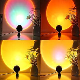 Lampe de Projection Sunset LED de veilleuse Rotation 360 Degrés Rainbow Sunset Projection Lampadaire, Lampadaire LED chamb...