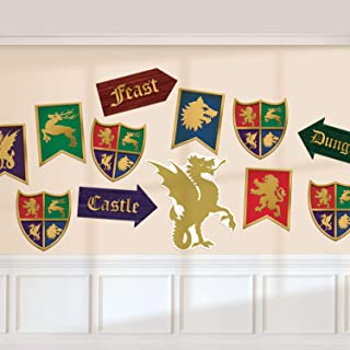 Amscan International Amscan 190707 Decoration Card Cut-Outs 12 Pack Medieval