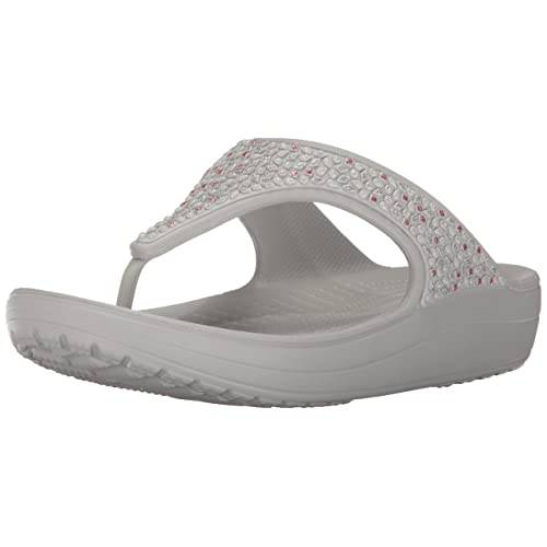 938a7fcda848 Women s White Embellished Flip Flops  Amazon.com