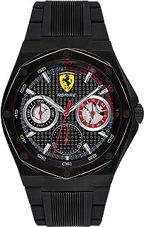 Ferrari Mens Quartz Watch, Chronograph Display and Silicone Strap 830538
