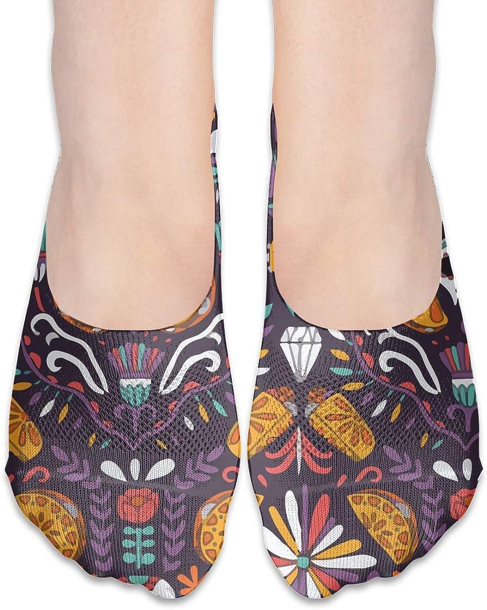 No Show Socks Women Men For Mexican Food Calaveras Tacos Burritos Flats Cotton Ultra Low Cut Liner Socks Non Slip