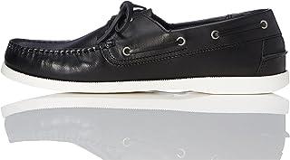 find. Iconic, Chaussures Bateau en Cuir-Homme-Noir (Black)-39 EU