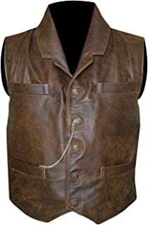 Anson Mount Hell On Wheels Cullen Bohannon Distressed Brown Leather Vest