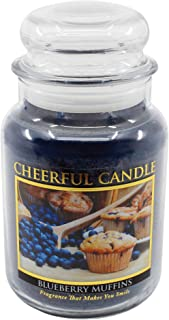 A Cheerful Giver Blueberry Muffins Jar Candle, Blue, 24 oz