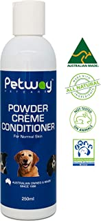 Petway Petcare Powder Creme Conditioner - Pet Hair Coat Conditioner for Healthy Shiny Coat – Dog Moisturizing Leave-in and...
