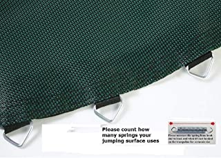 JumpKing Jumping Surface Black & Green Jumping Surface for 14' Trampoline with 88 v-Rings for 7
