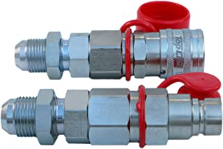 """TL25#12 JIC Thread Flat Face Quick Connect Hydraulic Coupler Coupling Bulkhead 1/2"""" Body Size to Mount Directly on Bobcat ..."""
