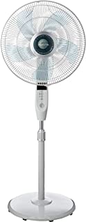 Mistral MSF1679R Stand Fan with Remote, 16 Inches, Grey