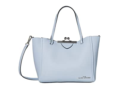 Marc Jacobs The Kisslock Mini Tote (Blue Mist) Handbags