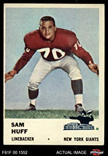 1961 Fleer # 74 Sam Huff New York Giants-FB (Football Card) Dean's Cards 5 - EX Giants-FB
