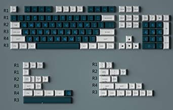Blue Hat SA PBT Double Shot Keycap White&Green Double Click Keycap Cherry MX KeyCap for Mechanical Keyboar