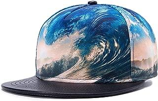 3D Galaxy Ocean Starry Print Flatbill Visor Snapback Baseball Hat Neon Sign