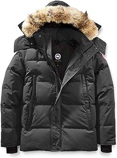 [カナダグース] CANADA GOOSE Men`s Wyndham Slim Fit Genuine Coyote Fur Trim Down Jacket メンズパーカー [Graphite] [並行輸入品]
