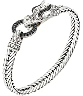 John Hardy - Legends Naga 7mm Station Bracelet with Black Sapphire