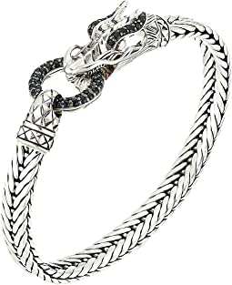 Legends Naga 7mm Station Bracelet with Black Sapphire