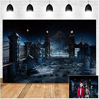 Halloween Night Creepy Tombstone Photography Backdrop 5x3ft Before Xmas Scary Castle Scene Trick Or Treat Children Hallowe...