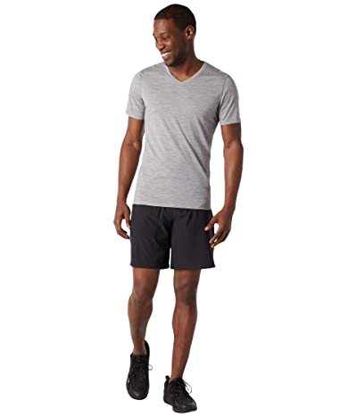 Smartwool Merino 150 Short Sleeve V-Neck (Light Gray Heather) Men