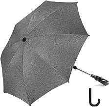 RIOGOO Kinderwagen Sonnenschirm Regenschirm Universal 50 UV Sonnenschutz für Babys und Kleinkinder mit Regenschirmgriff für Kinderwagen, Kinderwagen, Kinderwagen und Buggy-Grau