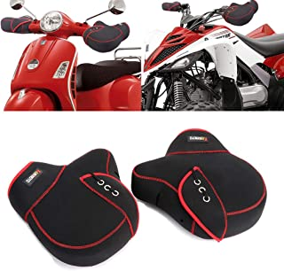 kemimoto Handlebar Mitts, Motorcycle Mittens Bike Windproof Scooter Bar Glove for Cold Weather Neoprene Material with Thick Keep Warm for Scooter ATV Snowmobile Motocross Bicycle
