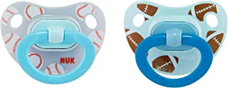 NUK Sports Orthodontic Pacifiers, Boy, 0-6 Months, 2-Pack