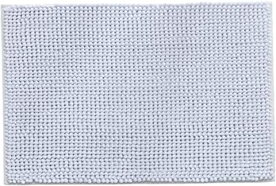 Arezzo Collection Butter Chenille 2 Piece Bathroom Rug Mat Set Gray Anti-Slip