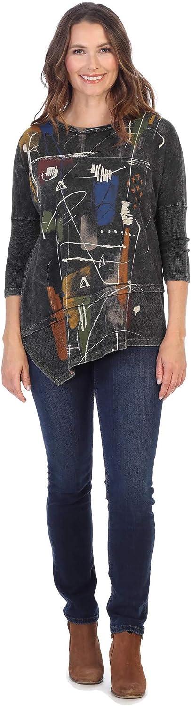Jess & Jane Women's Whitney Mineral Washed Cotton Dolman Sleeve Tunic
