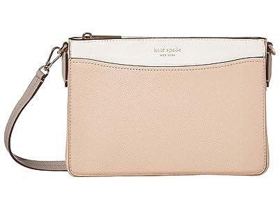 Kate Spade New York Margaux Medium Convertible Crossbody (Blush Multi) Handbags