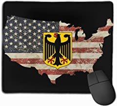 Coat of Arms of Germany US Flag Alfombrilla para ratón Non-Slip Gaming Mouse Pad Mousepad for Working,Gaming and Other Entertainment