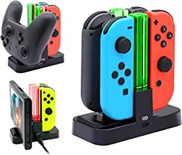 EEEKit Controller Charger for Nintendo Switch Charging Dock Stand Station for Switch Joy-con and Pro Controller w/Charging Indicator