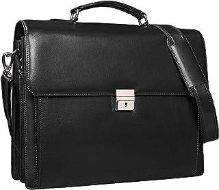 """STILORD Johann"""" Klassische Aktentasche Herren Damen Businesstasche für 15,6 Zoll Laptop passend für große DIN A4 Ordner mit Schloss Rinds Leder"""