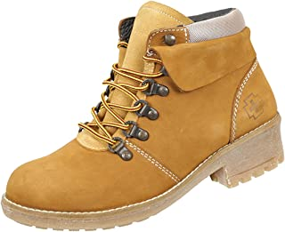 SWISSBRAND Womens Prilly Hiking Boots Outdoor Lightweight Shoes. Gold (5)