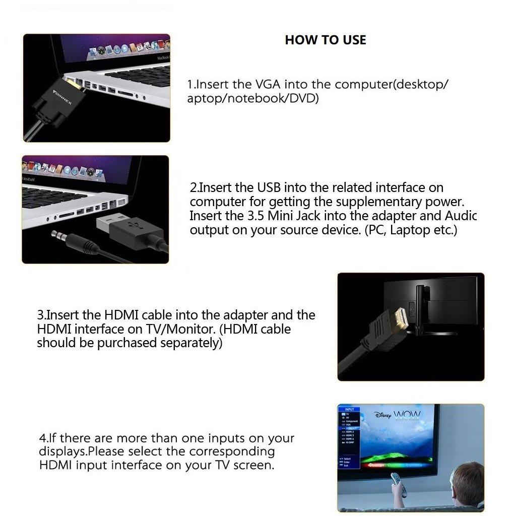 Cable adaptador Mini DisplayPort Golvery (centimeters 20, conector tipo mini displayport to hdmi/dvi/vga, male to female), color blanco: Amazon.es: Electrónica