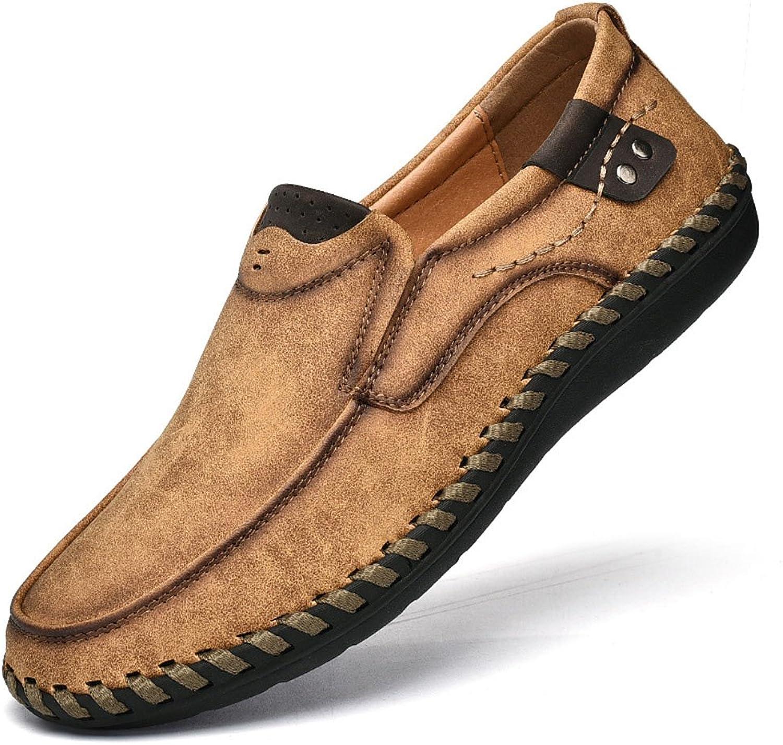 Men's Low-Cut Leather Bean shoes Handmade Men's Driving shoes