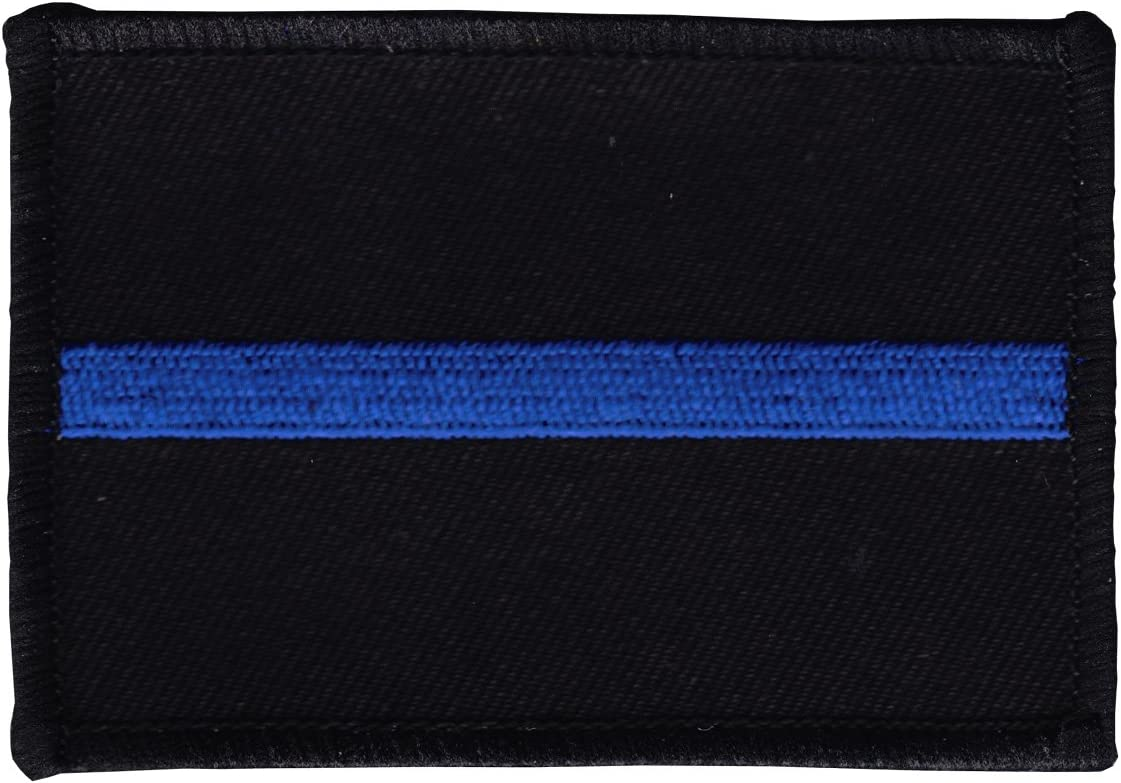 Thin Blue Ranking TOP14 Line Black Patch - Rectangular Shipping included
