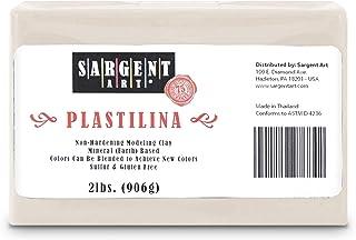 Sargent Art Plastilina Modelling Clay, 2-Pound, Cream