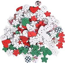 Confezione di Bottoni Decorativi con Forme a Tema Natale in Nylon R/écr/éatys 7112 02466