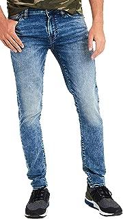 Mens 4675764 Ne(X) t Level Skinny Jean, Acid Wash