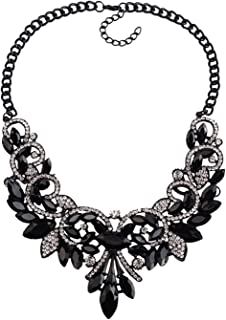 New Spring Colorful Crystal Women Maxi Necklaces Pendants Vintage Turkish Jewelry Necklace