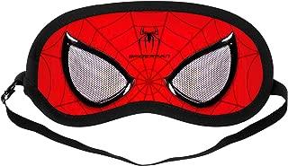 Silk Sleep Mask, Comfortable and Soft Eye Mask with Adjustable Head Strap, Blindfold Eyeshade for Kids Women Men (Spider Man)