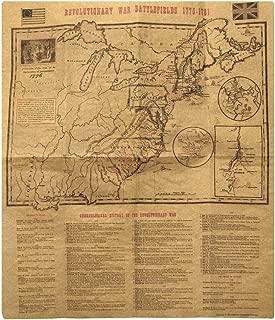 Revolutionary War Battlefield Map 1775-1781