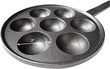 """YANDER Nonstick Stuffed Pancake Pan,House Cast Iron Griddle Fit For Various Spherical Food,2""""Diameter Molds Gadgets (Colo"""