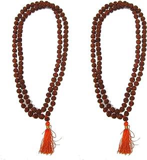 eshoppee Pack of 2 pcs vastu/fang Shui/Five Mukhi Rudraksh mala 108 +1 Rosary mala jap mala